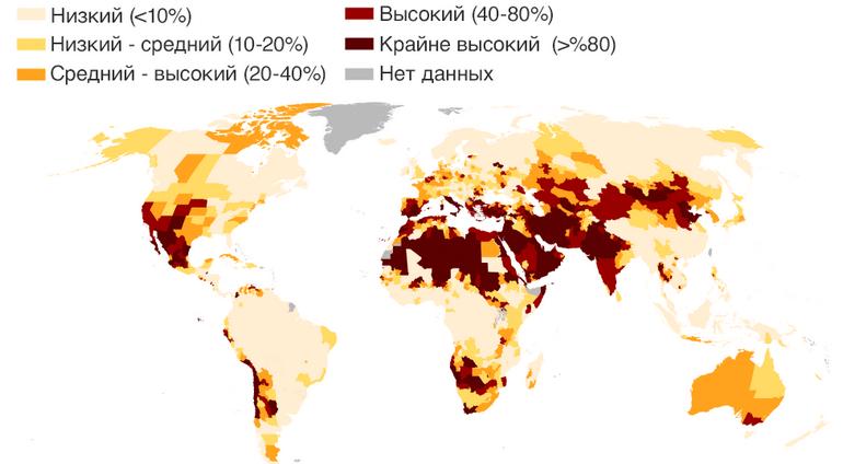 Уровень дефицита воды